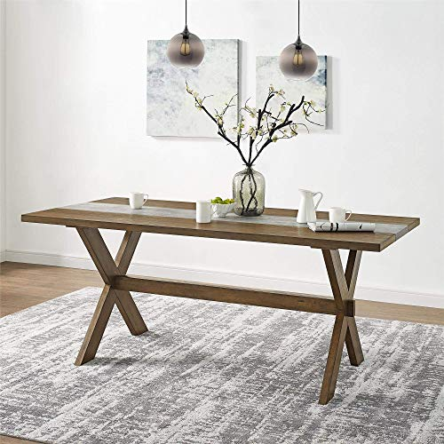 Dorel Living Harlem Dining Table with Faux Concrete Center