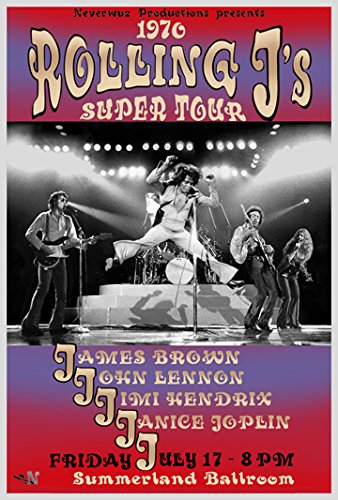 ROLLING J'S POSTER Live with James Brown - John Lennon - Jim