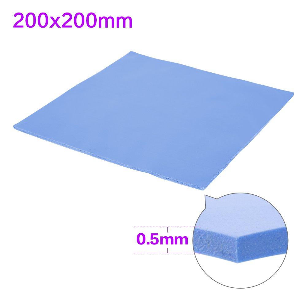 SHINESTAR Soft Thermal Silicone Conductive Pad Conductivity Heatsink Cooling Sheet Insulation Paste for Computer / Laptop / Notebook / GPU / CPU / VGA / IC / LED (200 x 200 x 0.5mm)