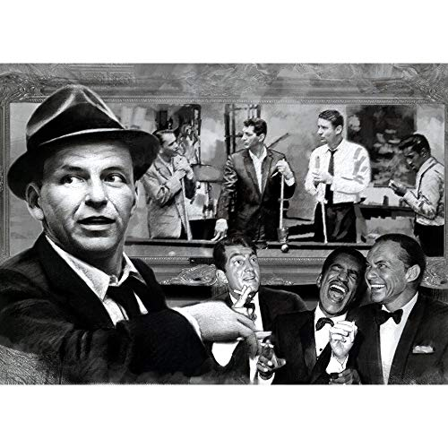 The Rat Pack Shooting Pool 3D Poster Wall Art Decor Print | 11.8 x 15.7 | Lenticular Posters & Pictures | Memorabilia Gifts for Guys & Girls Bedroom | Frank Sinatra, Dean Martin & Sammy Davis Jr]()