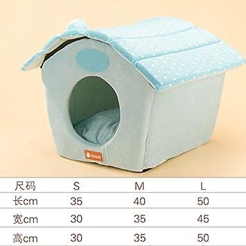 Aemember A Little Wave caseta lavable cálido invierno Tactic cama perro casa mascota arena cuatro: Amazon.es: Productos para mascotas