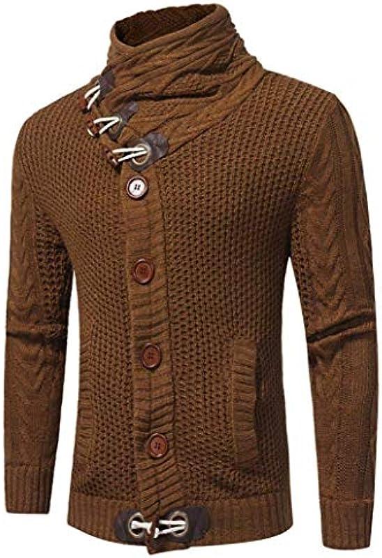 Męski sweter ze zwijanym kołnierzem jesień zima casual męski Nner sweter z dzianiny sweter z dzianiny wygodny rozmiar jesień zima jednokolorowy długi rękaw sweter sweter sukienka: Odzież