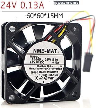 1PC NMB-MAT 2406KL-05W-B59 3-wire 6015 24V 0.13A 6CM CNC machine cooling Fan