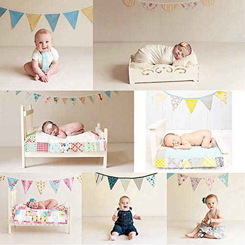 Banners, Streamers & Confetti - 12 Flags 3.2m Pink Cotton Fabric Bunting Pennant Flag Banner Garland Wedding Birthday Baby Show - Mermaid Gold Travel Cowboy Ideas Your Rock Vines -