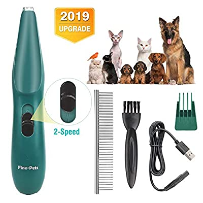 keepwe Dog Clippers, Dogs Cats Grooming Kit, Professional Pet Clippers for Small Dogs Cats, USB Rechargeable Low Noise Pet Trimmer Clippers for Hair Around Face, Eyes, Ears, Rump, Paws