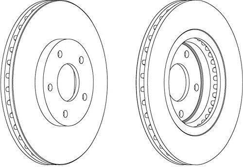 set of 2 Ferodo DDF1589 Brake Disc
