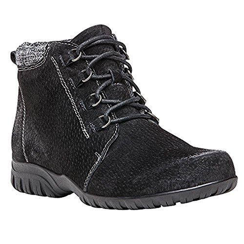 Women's Delaney Bundle Cleaner amp; Propet Suede Black Boot Oxy gqCvv