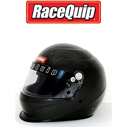 (RaceQuip Unisex-Adult Full-Face-style Helmet (Carbon Graphic, Large))