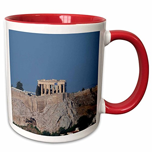 View Acropolis Athens Greece - 3dRose Danita Delimont - Greece - Greece, Athens. View of the Acropolis - EU12 CMI0663 - Cindy Miller Hopkins - 15oz Two-Tone Red Mug (mug_137334_10)