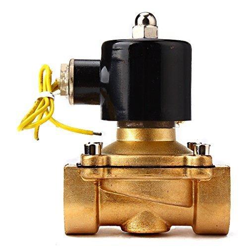 Water Air Gas Fuel Electric Solenoid Valve (Black) - 6