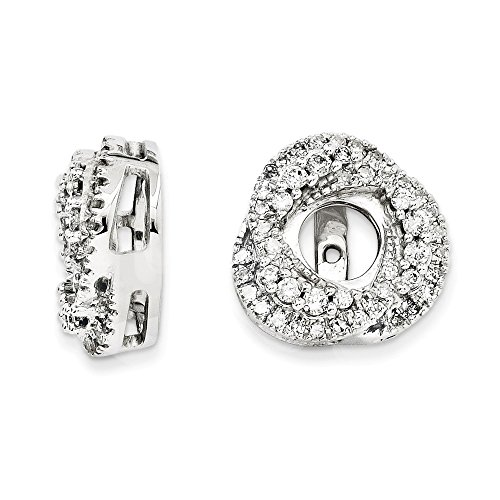 0.50 Carat (ctw) 14k Gold Round Diamond Love Knot Removable Jackets for Stud Earrings 1/2 CT - (White-Gold)
