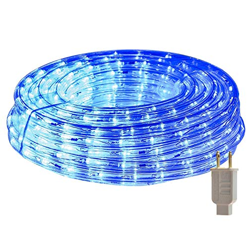 HEI LIANG LED Rope Lights, 120V Waterproof LED String Lights for Patio, Backyard, Garden, Wedding, Christmas Party, Indoor and Outdoor Decoration (50FT/15M, Blue)