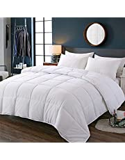 Luxury Cotton Comforter for All Season 800 TC Down Alternative Super Soft Comforter with 300 GSM Filling