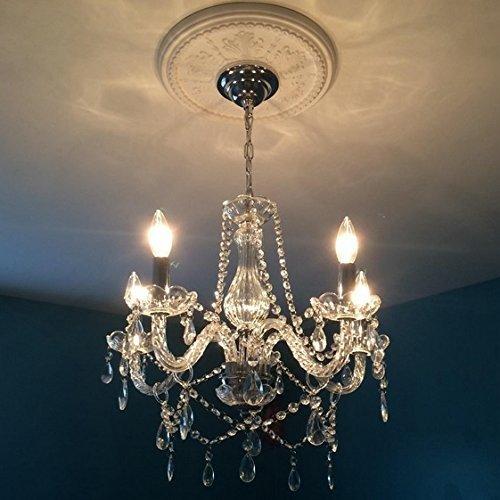 Saint Mossi Modern Contemporary Elegant K9 Crystal Glass Chandelier Pendant Ceiling Lighting fixture - 5 Lights by Saint Mossi (Image #4)