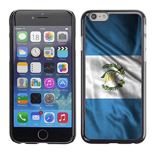 FJCases Guatemala Guatemalan Waving Flag Slim & Thin Hard Case Cover for Apple iPhone 6 Plus/iPhone 6S Plus (Guatemala Cover)