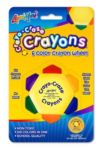 Liqui-Mark 6-color Crayon Wheel