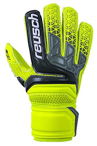 Reusch Soccer Prisma SD Easy Fit Junior Goalkeeper Gloves Yellow/Black, (Easy Fit Gloves)