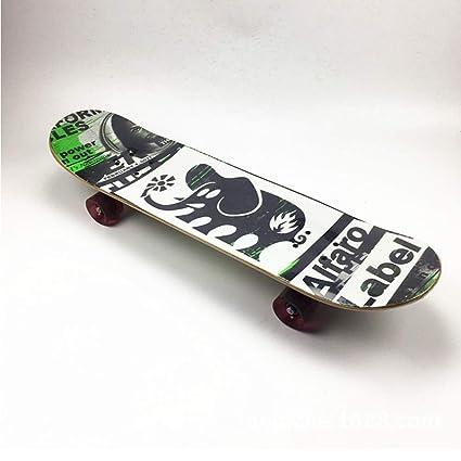 BIN Principiante Skateboarding, Principiantes De Cuatro Ruedas Skateboard, NiñOs/Adulto Skateboard, Doble