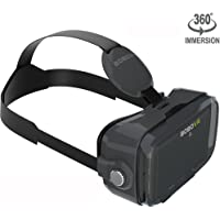 VR Viewer Virtual Reality Mask fits the Short Sighted & Hyperopia and Kids with Adjustable Strap Movie Games 3D Headset Glasses for iOS & Android & Windows Phones within 3.5-6.2 inches (Z4 Mini Black)