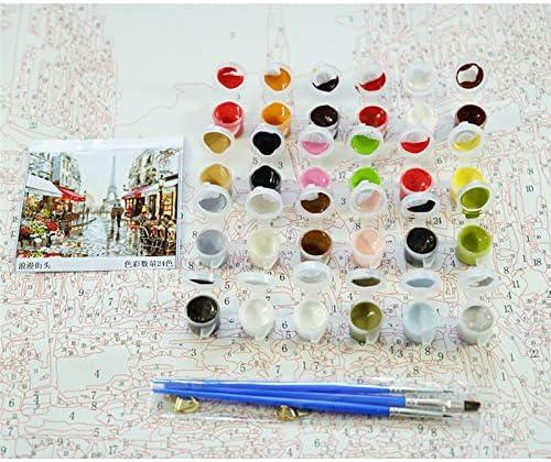 Pintura por número DIYUn perro de ciervo de color Animal Lienzo Decoración de la habitación Imagen de arte Presente 40x50cm A A