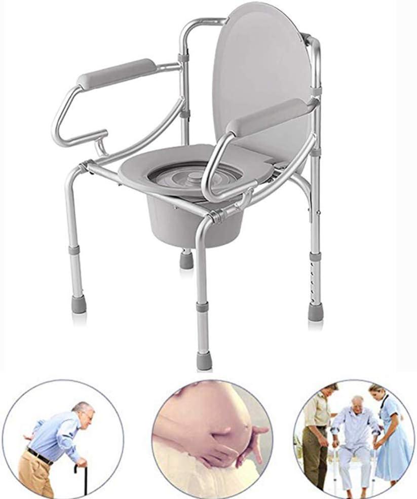 Cómodas de cabecera, Silla Plegable médica para Inodoro y Marco para Inodoro, Silla de Ducha bidé portátil de aleación de Aluminio para Ancianos/discapacitados/Embarazadas