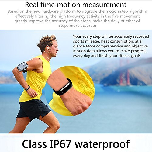 Smart Band,Waterproof Smart Watch Fitness Tracker Activity Wristband Monitor Pedometer Sleep Monitor Smart Bracelet Calories Track Step Track Health Band with APP for iPhone and Android by Colorful panda (Image #5)