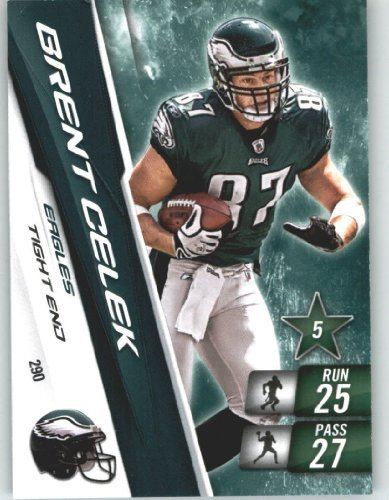 2010 Panini Adrenalyn XL NFL Trading Card #290 Brent Celek - Philadelphia Eagles - NFL Trading Card