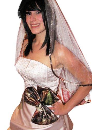 Mossy Oak Camo Wedding Veil, Women's 2-Tier Sparkle White...