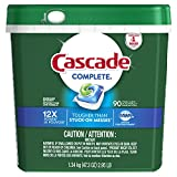 Best Cascade Dishwasher Soaps - Cascade Complete Actionpacs Dishwasher Detergent, Fresh Scent, 90 Review