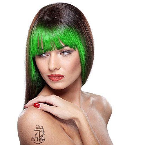 (Uv Hair Chalk, Green, With Sponge Hair Applicator 3.5g, Blister Pack)