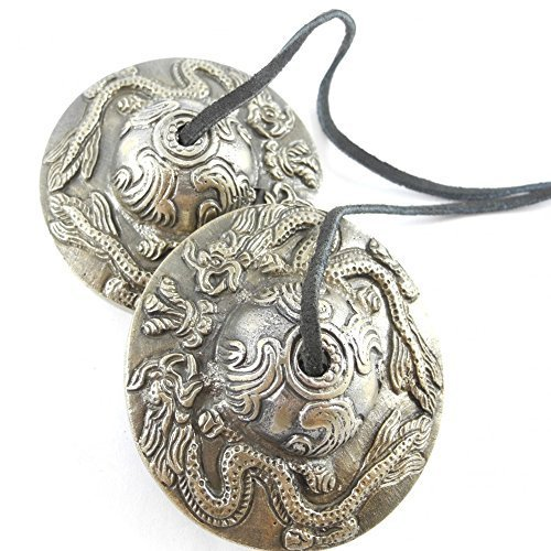 DRAGON MEDITATION TIBETAN GONG TINGSHA CYMBALS by Silver Sky Imports