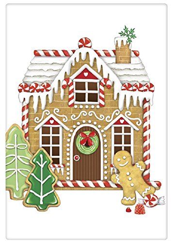 Mary Lake Thompson Flour Sack Towel - Christmas Gingerbread (Gingerbread Towel)