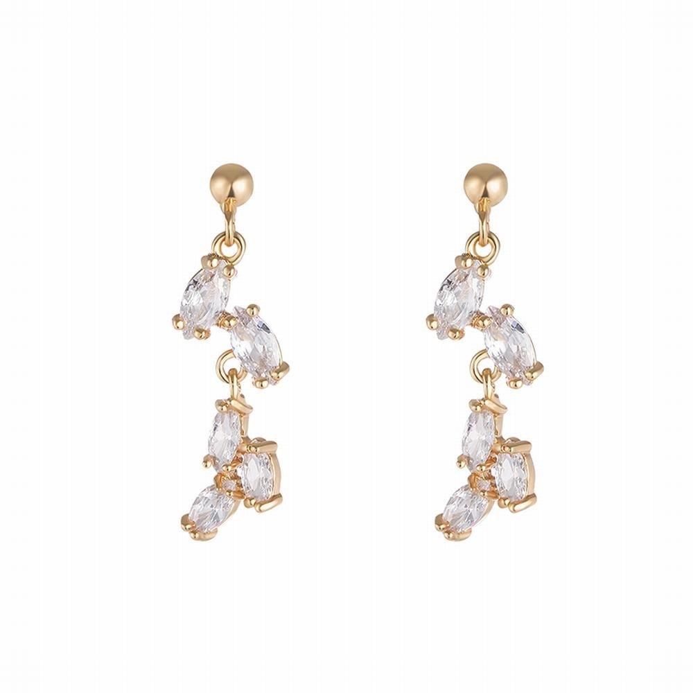 Ling Studs Earrings Hypoallergenic Cartilage Ear Piercing Zircon tassel earrings simple pendant earrings short earrings