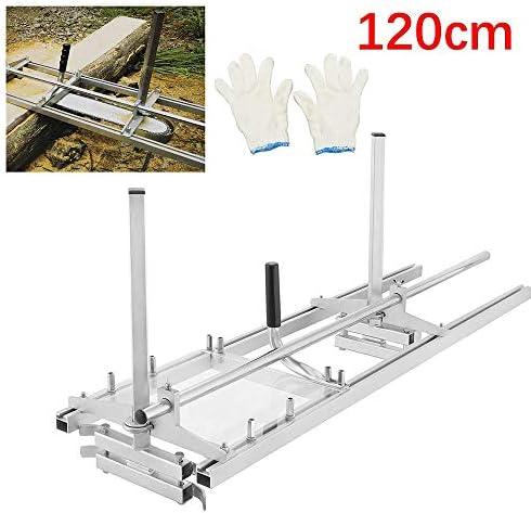 """HUKOERChainsaw Mill 48 Zoll tragbare Kettensäge Mühle Aluminium Stahl Mig Schweißen Sägewerk 18""""-48"""" Planking Lumber Cutting Bar"""