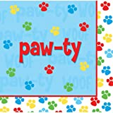 18-Count Paper Lunch Napkins, Paw-Ty Time
