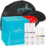 Capillus82 Laser Hair Growth Hat & 3 Clinical Hair Regrowth Treatment Bundles for Treating Hair Loss (3 Shampoos, 3 Conditioners, 3 Revitalizers & 3 Activators) - New Flexible Fitting Cap