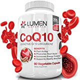 Lumen Naturals CoQ10 200mg - Fast Acting Extra Strength Coenzyme Q10 Ubiquinone Supplement - Promotes Heart Health & Cellular Energy & Endurance to Fight Fatigue & Support Healthy Blood Pressure