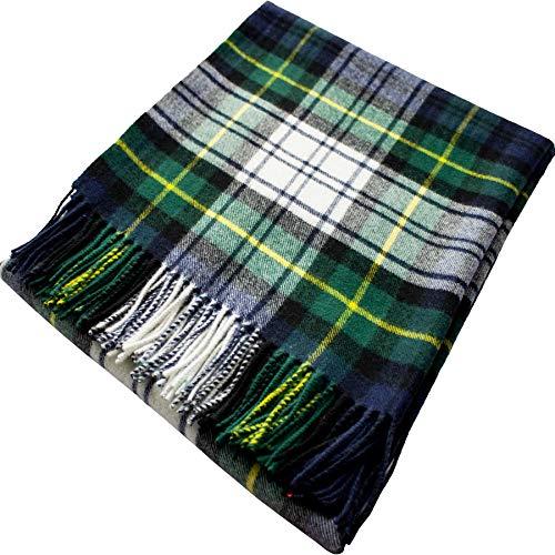 - iLuv Gordon Dress Modern Tartan Plaid 100% Lambswool Blanket