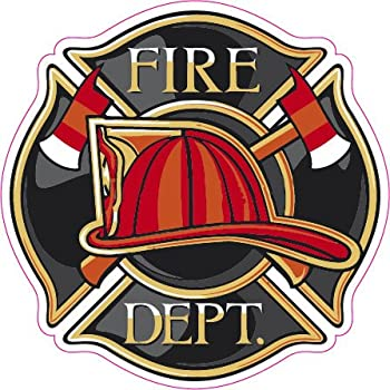amazon com fire department logo decal automotive rh amazon com firefighter logos clip art firefighter logos and designs