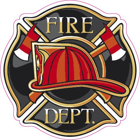 Nostalgia Decals Fire Department Badge Large Decal 11