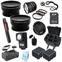 Advanced Professional Kit: for Panasonic 32GB HC-X900M 3D Full HD Camcorder