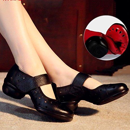 Scarpe Sandali US5 Jazz PENGFEI Tacco Femmina Nero Da Ballo Colori dimensioni Colore Cavo Ballo Nuovo 5 225 Morbido EU35 3 Bianca Fondo Quadrato Metà UK4 11I5q