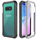Samsung Galaxy s10e Case, Temdan Full-Body Rugged Case with Built-in Screen Protector Support Wireless Charging, Heavy Duty Dropproof Case for Samsung Galaxy S10E 5.8 inch 2020 (Clear/Black)