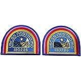 Set of 2 ALIEN Movie U.S.C.S.S. Nostromo Crew Shoulder Costume [BLUE] [4 inch] patches