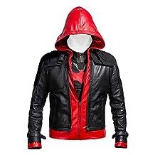Laverapelle Batman Arkham Knight Red Hood high quality faux leather Men JACKET + VEST