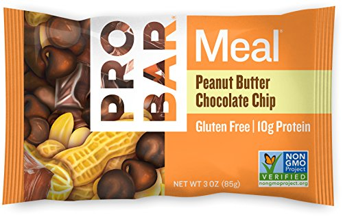 PROBAR - Meal Bar - Peanut Butter Chocolate Chip - Gluten Free, Non-GMO Project Verified, Plant-Based Organic Whole Food Ingredients, 10g Protein, 6g Fiber - Pack of 12 Bars - Chocolate Peanut Butter Swirl