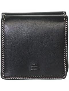 Porte-monnaie zippé Serge Blanco en cuir noir