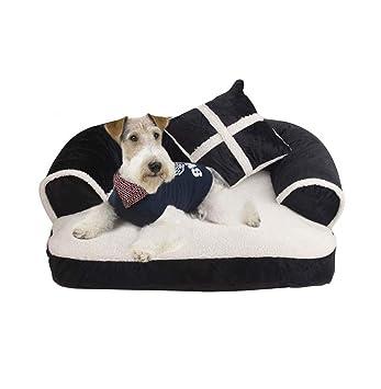 Colchon Ortopedico para Perro Sofa Cama Lavable Perros Viejos Mayores Avanzada Edad Mascotas Senior S M XL