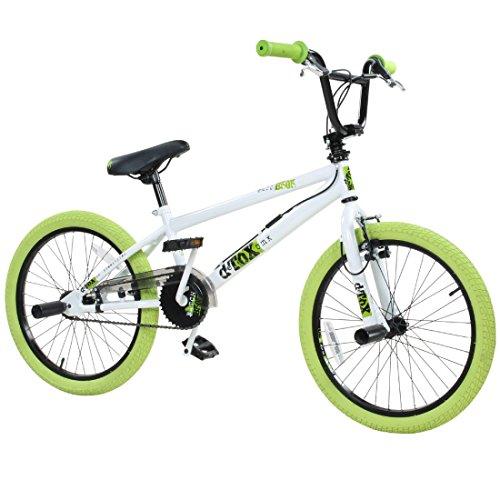20' BMX deTOX Freestyle Kinder BMX Anfänger, Farbe:weiss/grün
