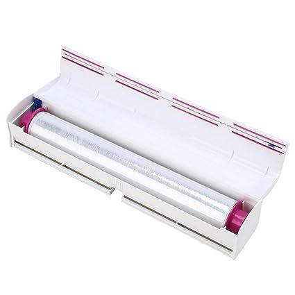 Amaoma Cortador Pantalla, Pantalla dispensador de Film para dispensador Box, Protectores dispensador Aluminio Pantalla